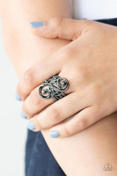 Musical Motif Black Ring