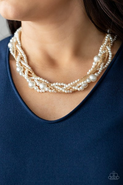 Royal Reminiscence Gold Pearl Necklace - PREORDER