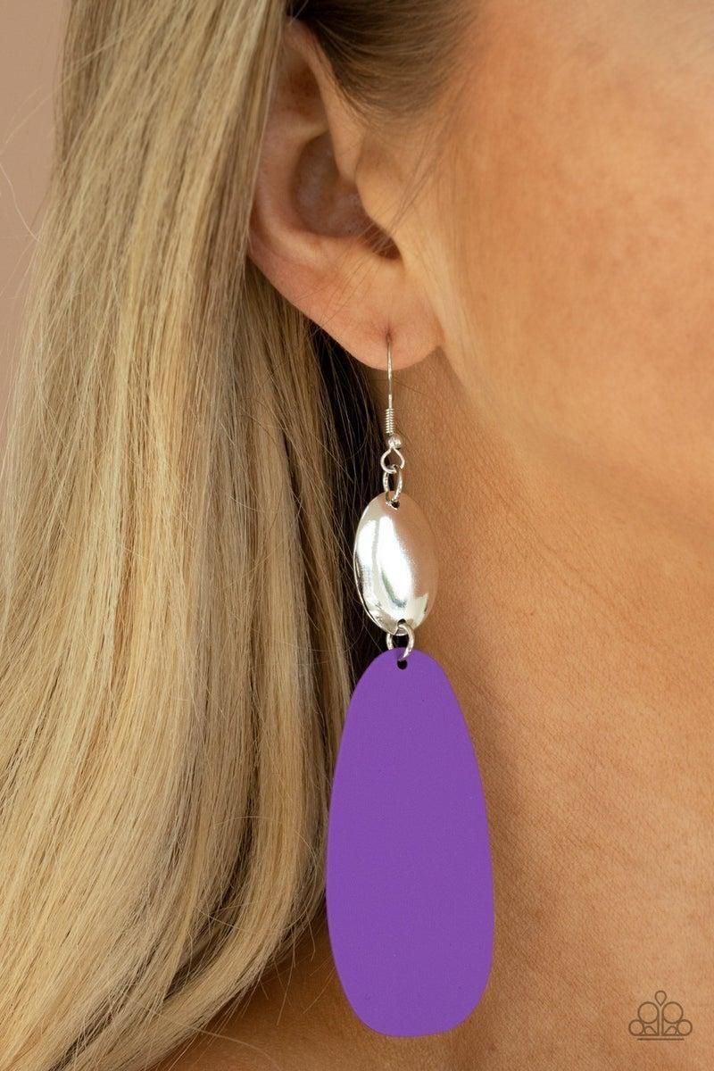 Vivaciously Vogue Purple Earring