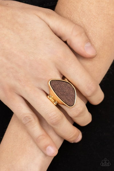 Perfectly Petrified Gold Ring