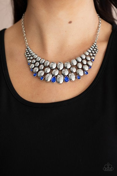 Powerhouse Party Blue Necklace