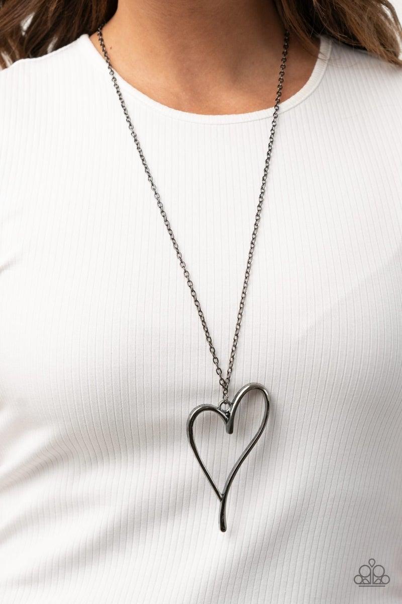 HEARTS So Good Black Necklace