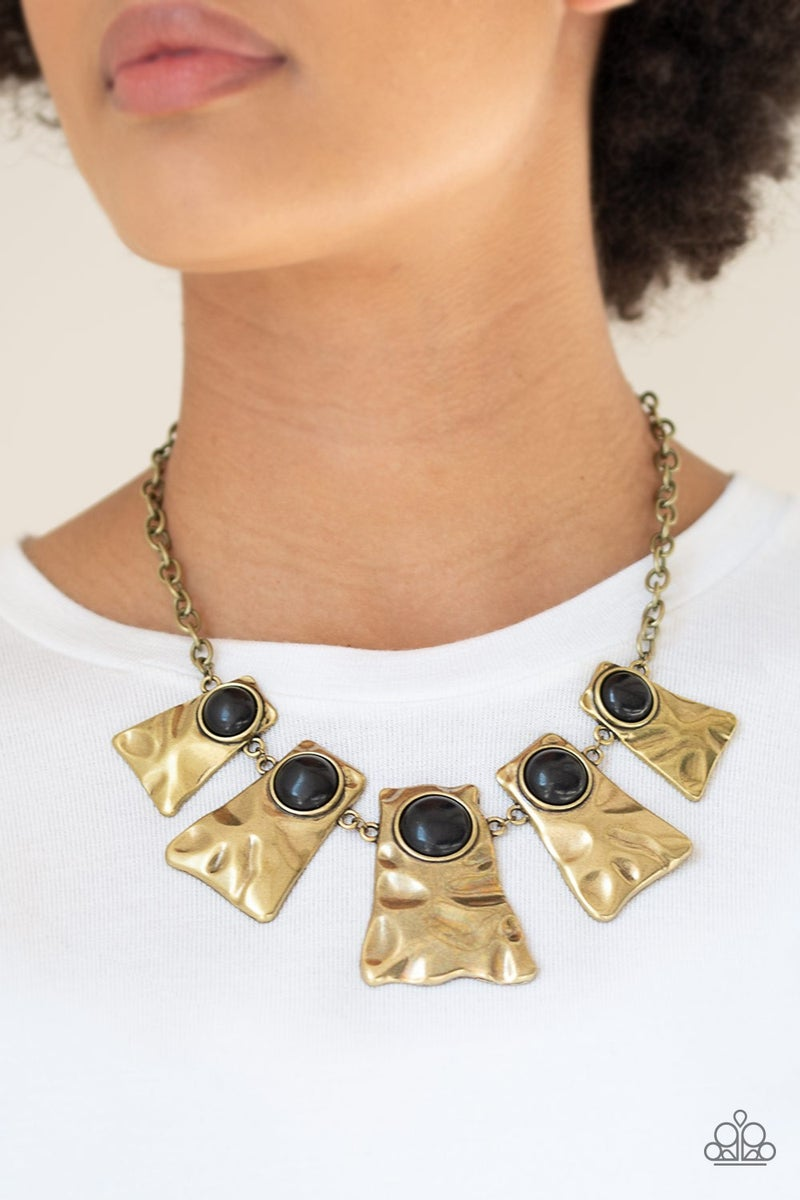 Cougar Black Brass Necklace - Sparkle with Suzanna