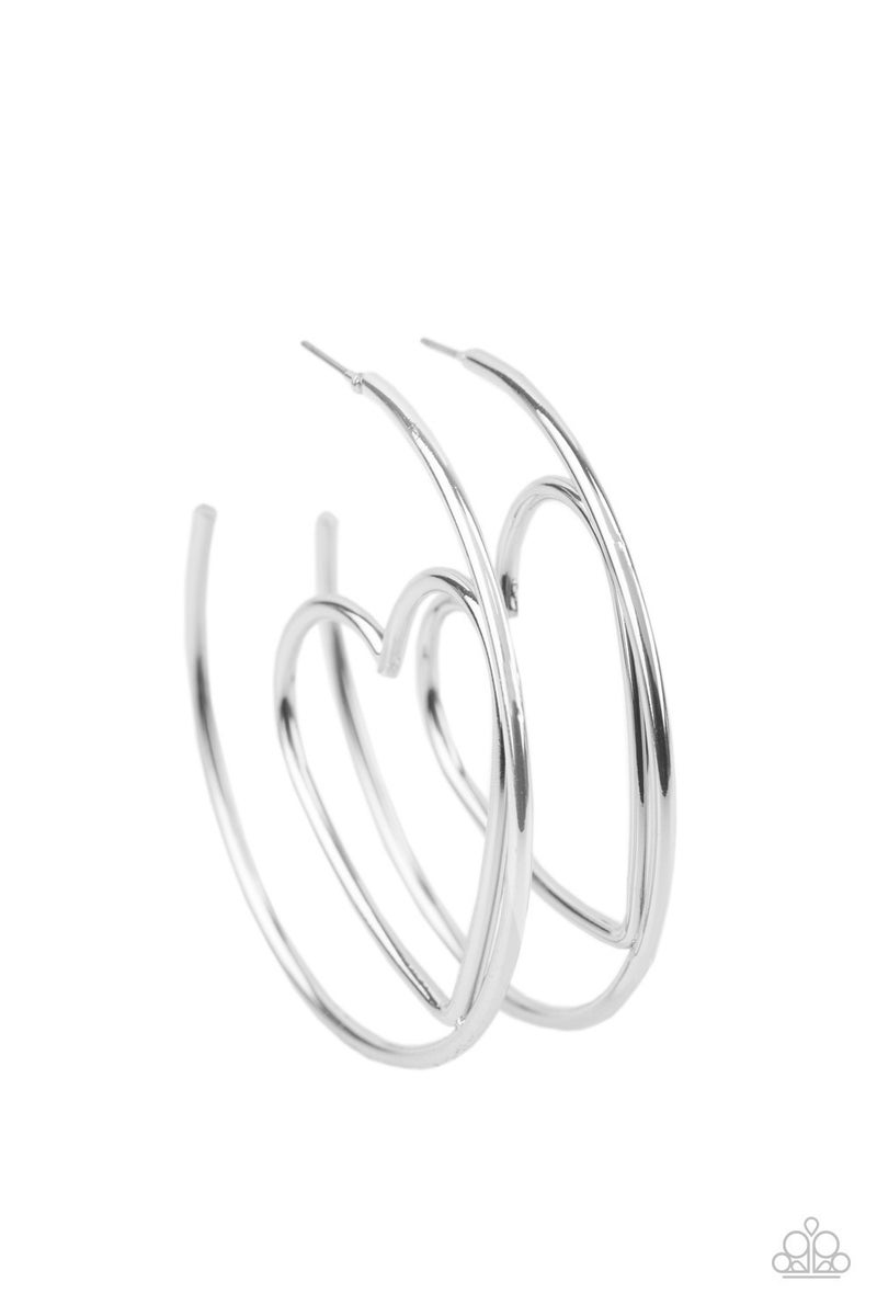 Love at First BRIGHT Silver Hoop Earring