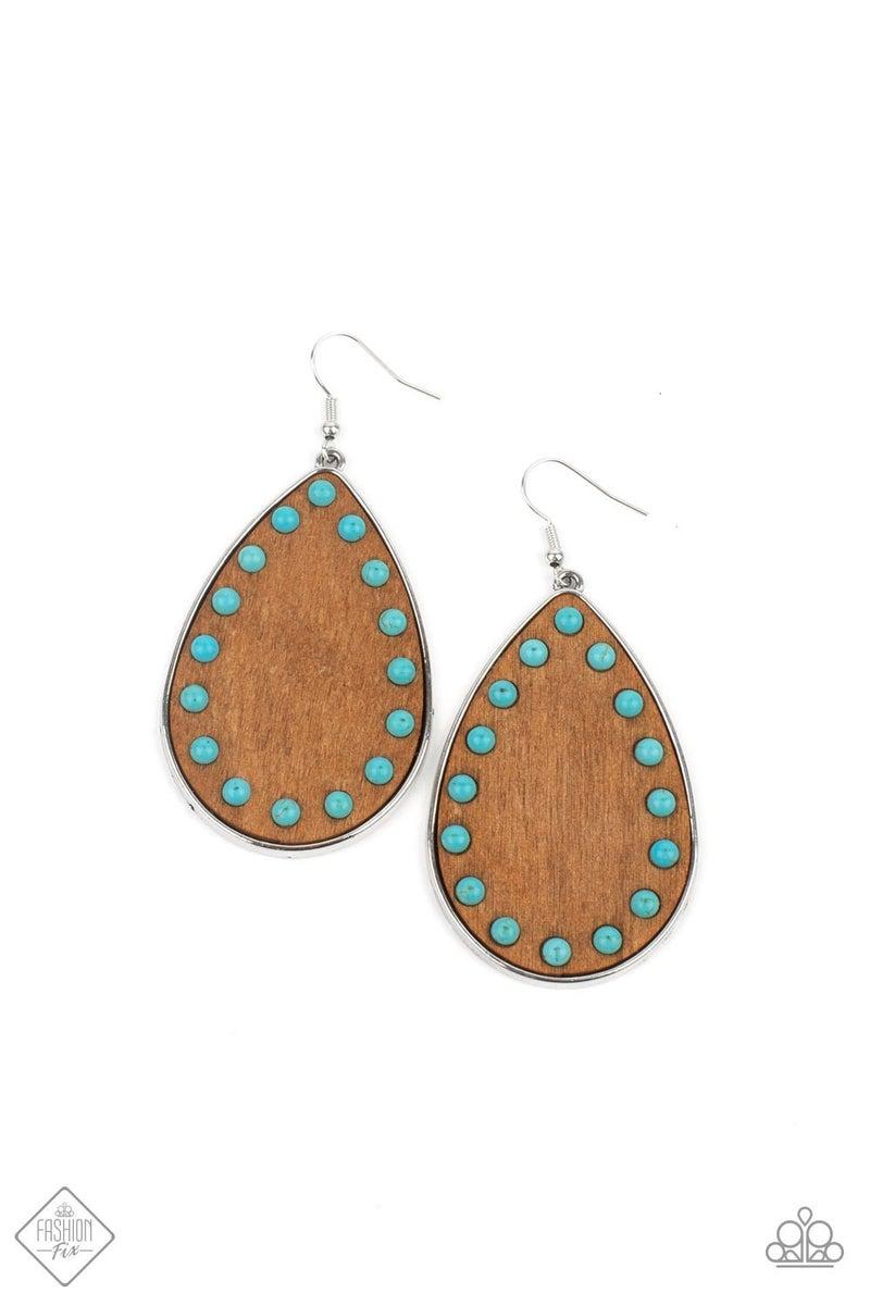 Rustic Refuge Blue Earring - Fashion Fix