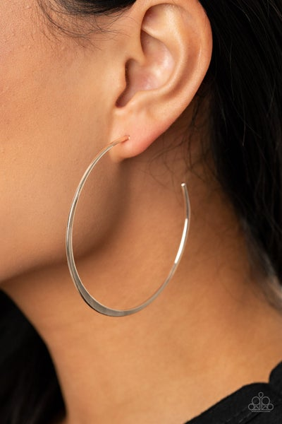 Don't Lose Your Edge Silver Hoop Earring