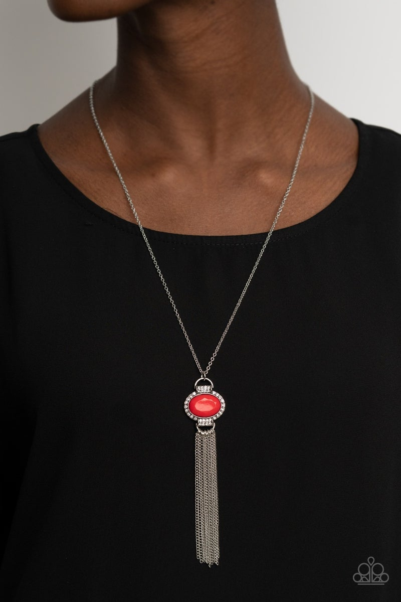 What GLOWS Up Red Necklace