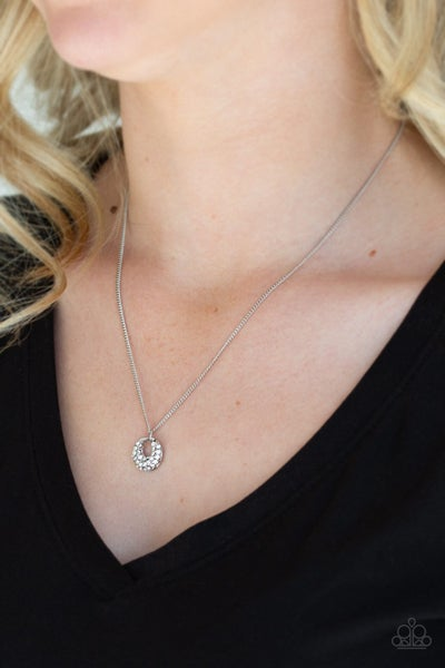One Small Step For GLAM White necklace