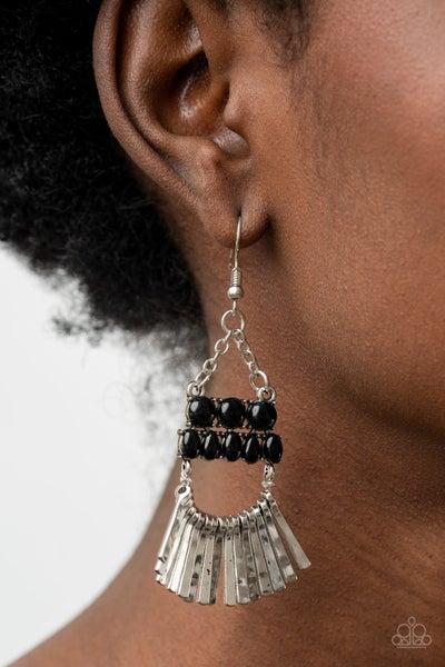A FLARE for Fierceness Black Earring