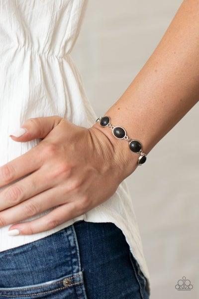 Nice Stonework Black Bracelet