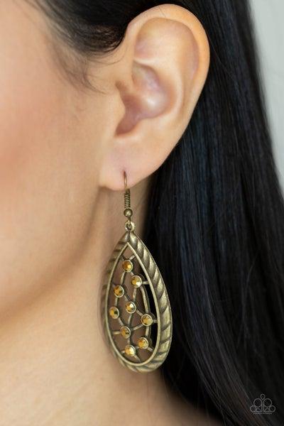 Industrial Incandescence Brass Earrings