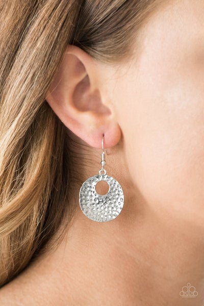 A Taste For Texture Silver Earring