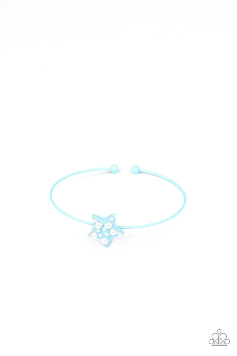 STARLET SHIMMER PEARL-DOTTED STAR CUFF BRACELETS - 5 Pack