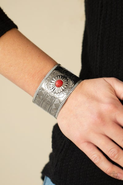 Aztec Artisan Red Bracelet