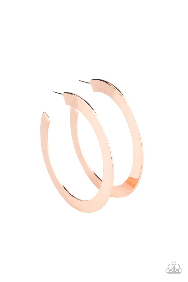 The Inside Track Copper Hoop Earring