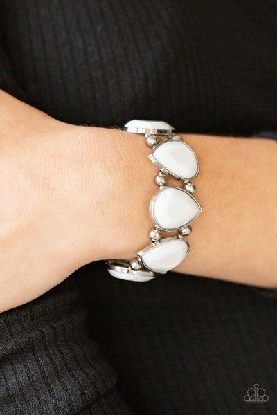 Flamboyant Tease White Bracelet