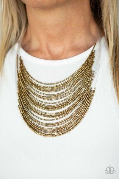 Catwalk Queen Brass Necklace