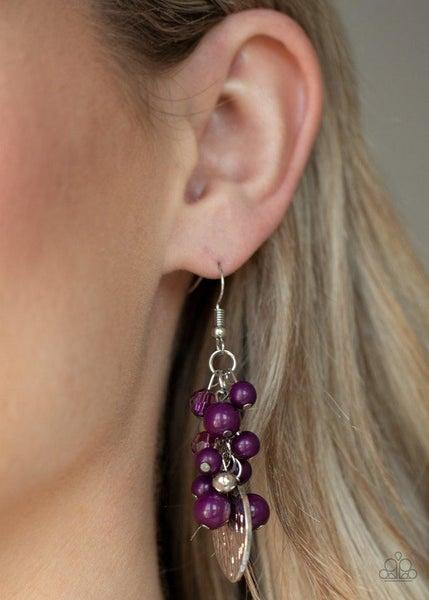 Fruity Finesse Purple Earring
