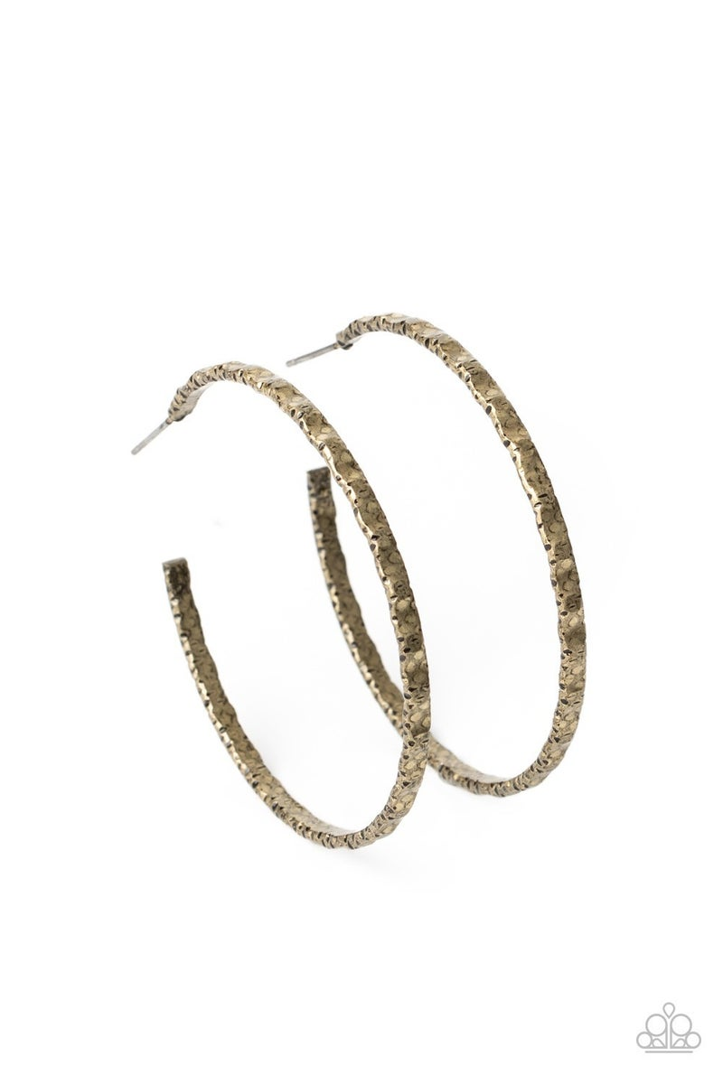 Grungy Grit Brass Earring - Sparkle with Suzanna