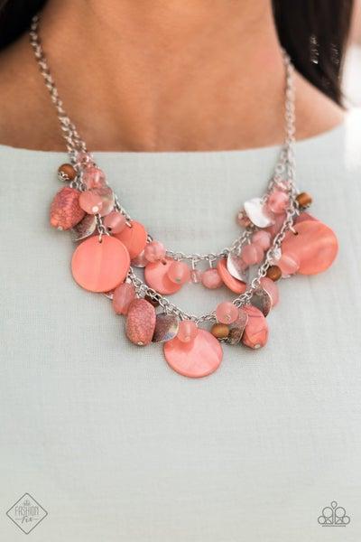 Spring Goddess Orange Necklace