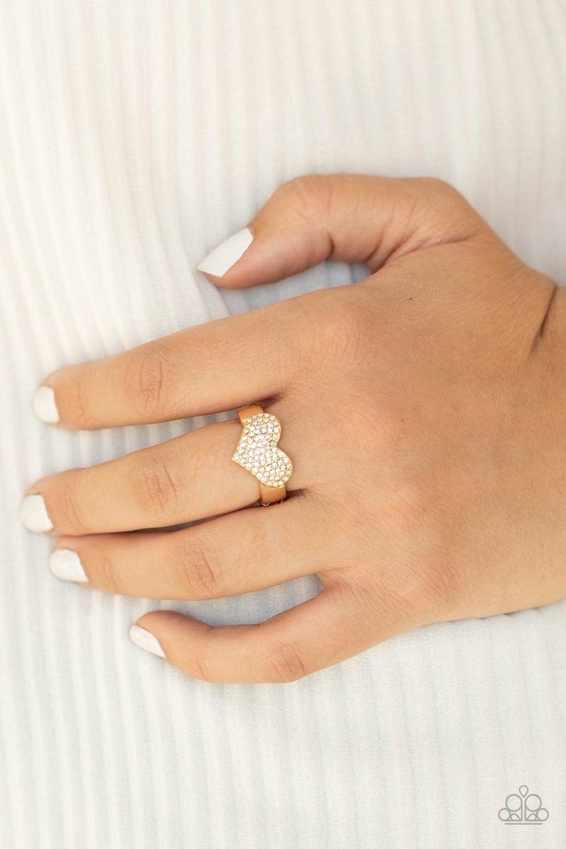 Heart of BLING Gold Ring