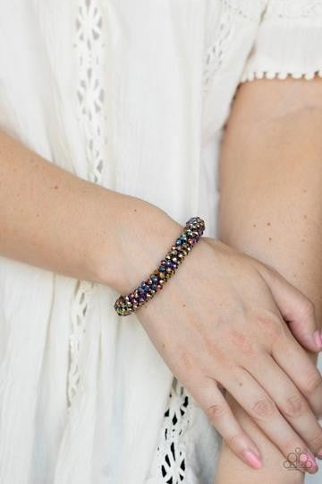 Wake UP and Sparkle - Multi OIL SPILL Bracelet - Life of the Party Exclusive