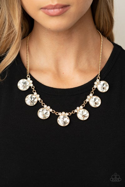 GLOW-Getter Glamour Gold Necklace