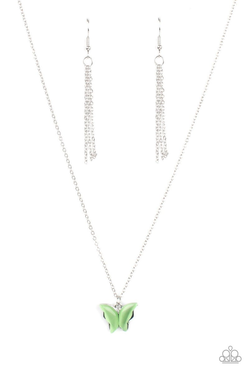 Butterfly Prairies Green Necklace - PREORDER