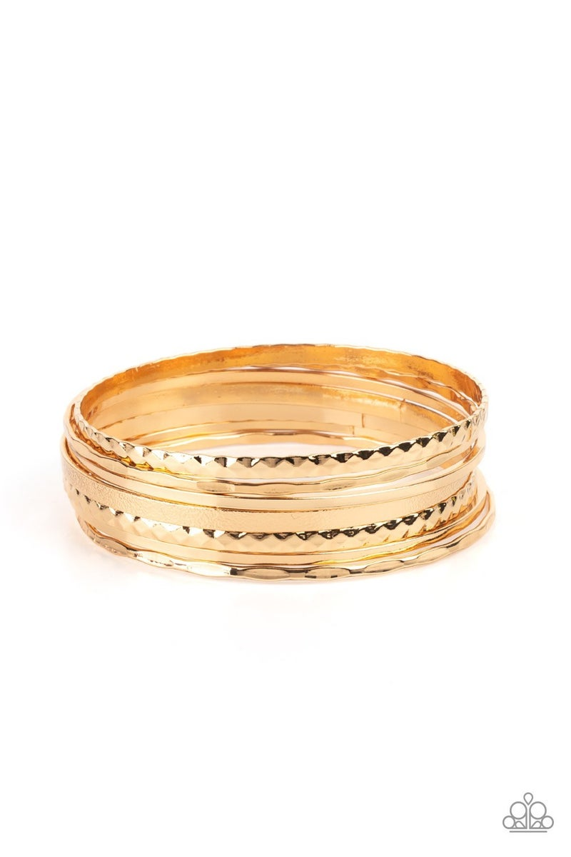 How Do You Stack Up? - Gold Bracelet
