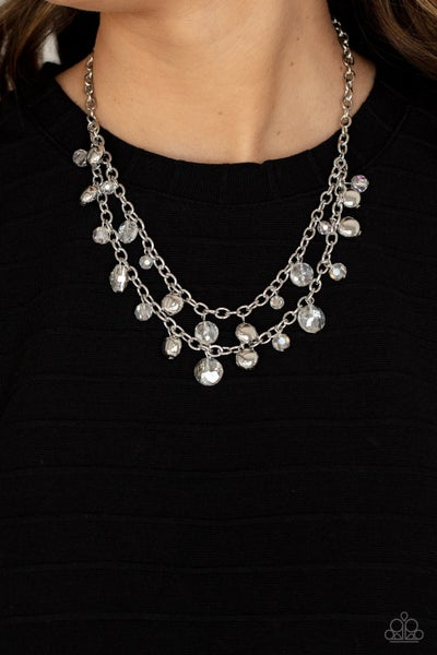 Ethereally Ensconced White Necklace