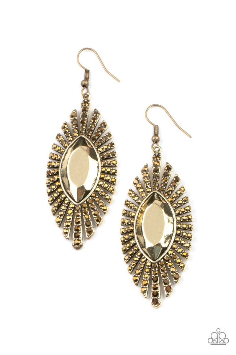 Who is the FIERCEST of them all Brass Earring - Sparkle with Suzanna