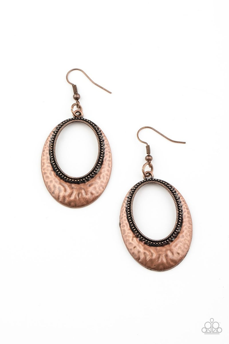 Tempest Texture Copper Earring - Sparkle with Suzanna