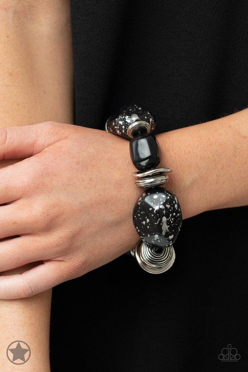 Glaze of Glory Black Blockbuster Bracelet - Sparkle with Suzanna