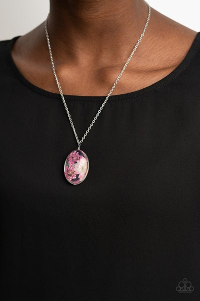 Boho Garden Parties Pink Necklace