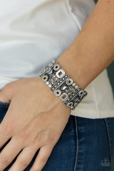 Dynamically Diverse Silver Bracelet