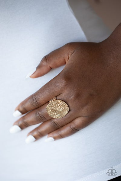 Lined Up Gold Ring