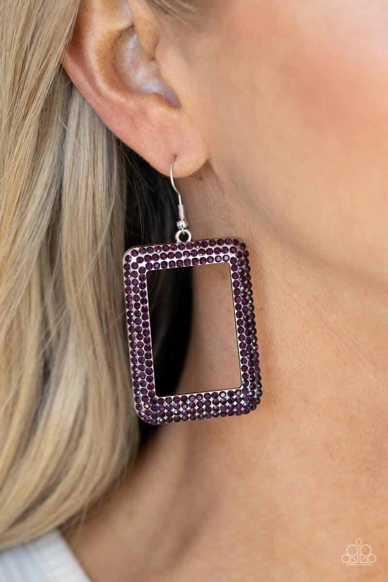 World FRAME-ous Purple Earring - PREORDER
