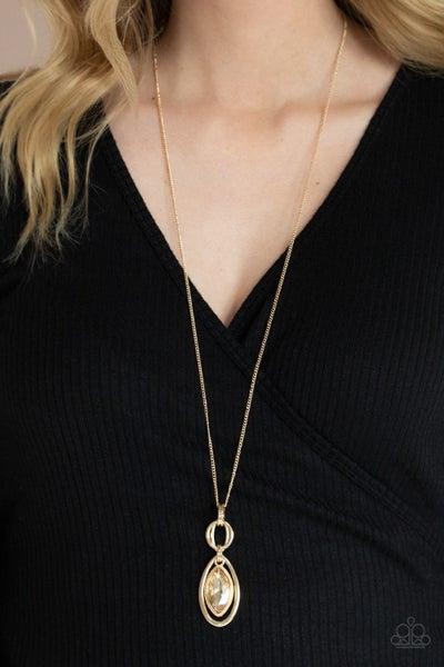 Glamorously Glaring Gold Necklace