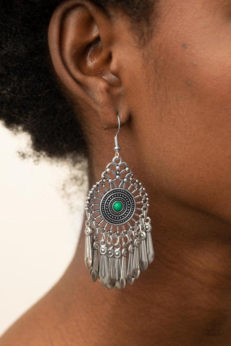 Dream a Little DREAMCATCHER Green Earring