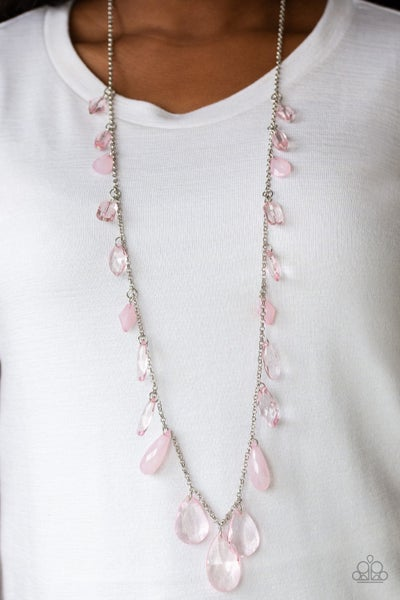 GLOW and Steady Wins the Race Pink Necklace