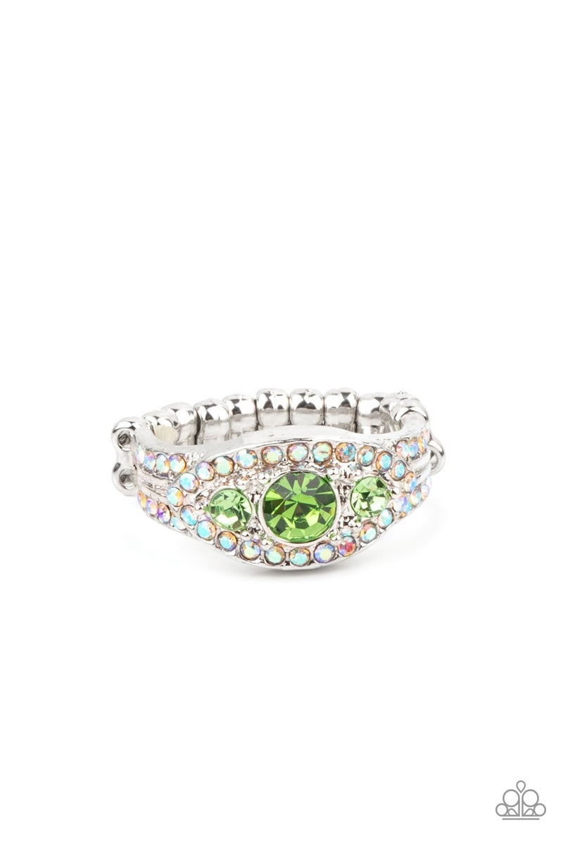 Celestial Crowns Green Iridescent Ring