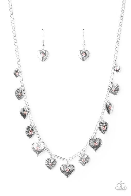 Lovely Lockets Pink Necklace
