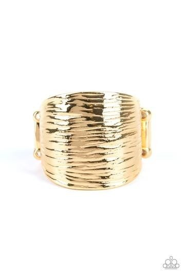 Rippling Rivers Gold Ring - Sparkle with Suzanna