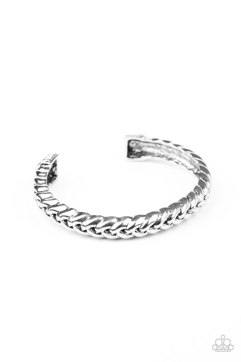 Tough as Nails Silver Bracelet
