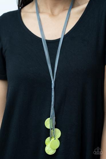 Tidal Tassels Green Necklace