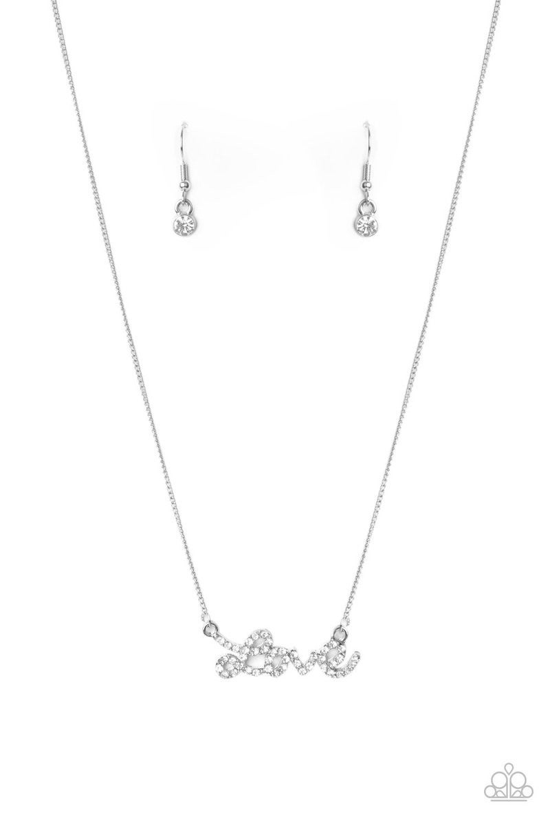 Head Over Heels In Love Silver Necklace