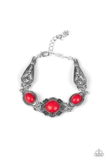 Serenely Southern Red Bracelet - Sparkle with Suzanna