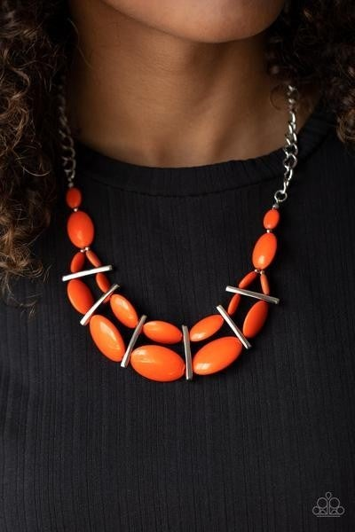 Law of the Jungle Orange Necklace