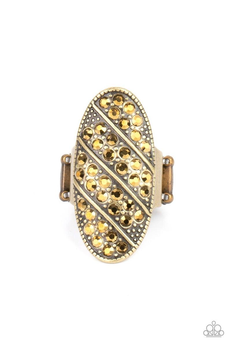 Galactic Glitz Brass Ring - PREORDER