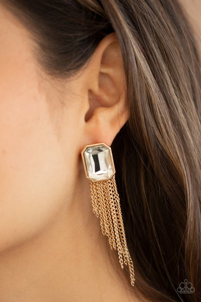 Save for a REIGNY day Gold Post Earring